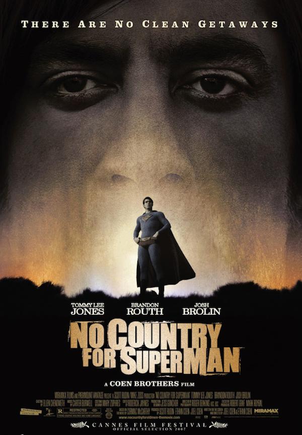 Mistura de No Country for Old Men com Superman