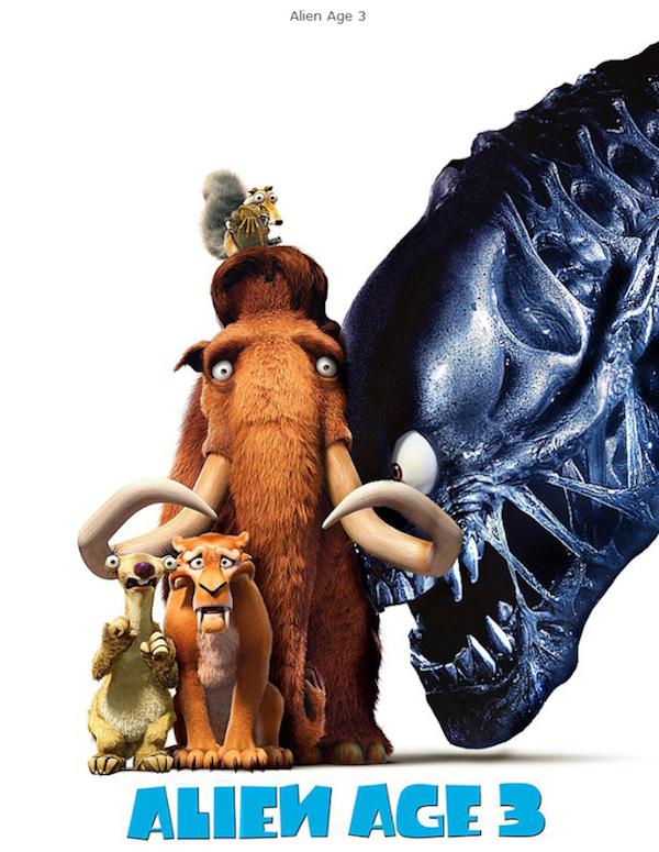 Mistura de Alien com A Era do Gelo 3