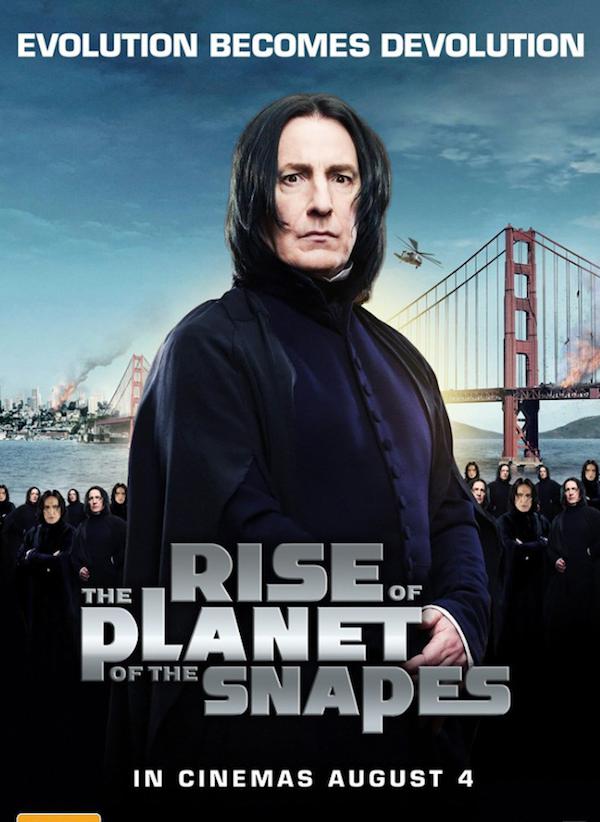 Mistura de The Rise of The Planet of The Apes com Professor Snape