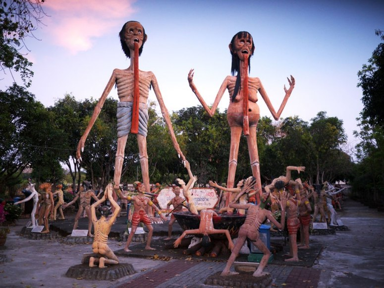 O Jardim do Inferno na Tailândia