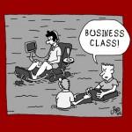 assento flutuante business class