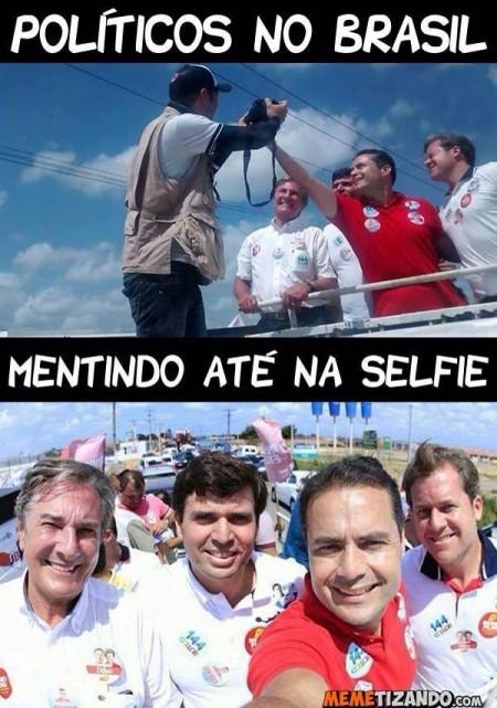politicos mentem selfie